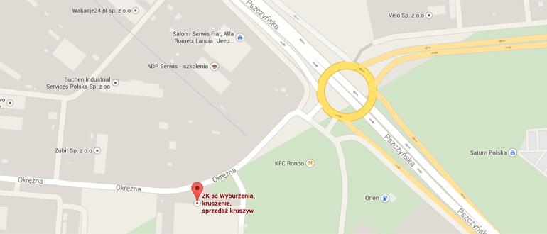 Mapa dojazdu do Gliwic